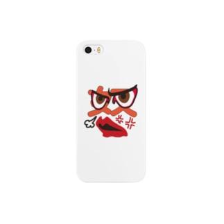 かおスタンプ「怒」iPhoneケース Smartphone cases