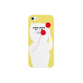 cosajisalutのiphoneもしも白猫赤電話黄色スマートフォンケース