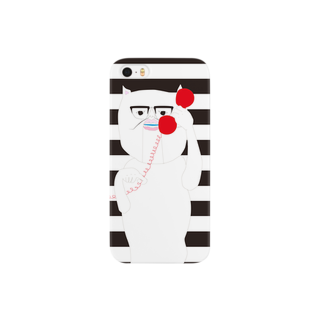cosajisalutのiphoneもしも白猫赤電話ボーダースマートフォンケース