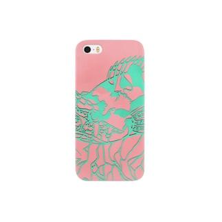 カサゴ 切り絵 Smartphone cases