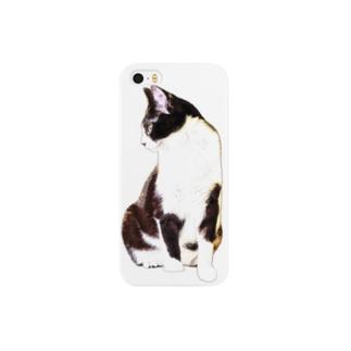 猫スケッチ Smartphone cases