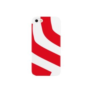 イケハヤの首から左肩にかけての曲線3本 Smartphone cases