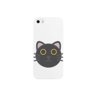 おちょぼぐち黒猫・黄眼 Smartphone cases