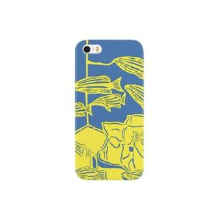 ヨスジフエダイ 切り絵 Smartphone cases