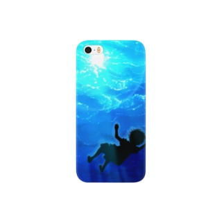 水面を見上げる Smartphone cases