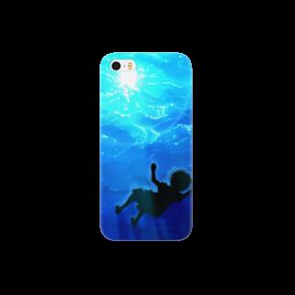 水面を見上げる スマートフォンケース