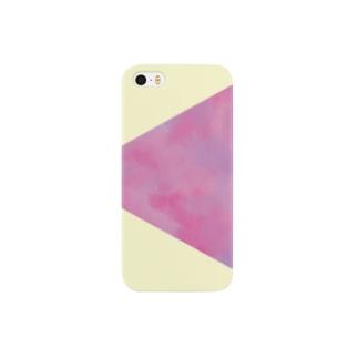 ピンクの三角ケース Smartphone cases