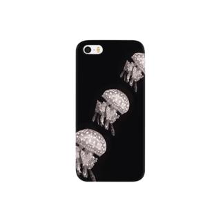 monokuro jelly fish* Smartphone cases