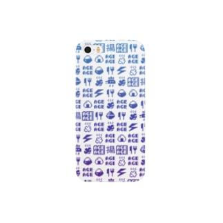 ドットアゲパターンケース Smartphone cases