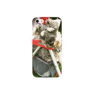 ベビーカーに乗る犬 Smartphone cases