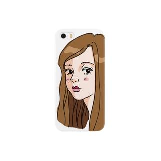 ちょっと流し目 Smartphone cases