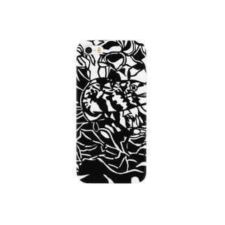 クモウツボ 切り絵 Smartphone cases