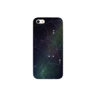 星と蜘蛛の巣 Smartphone cases