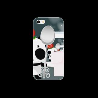 *suzuriDeMonyaa.tag*のズレぱんだちゃん Smartphone cases