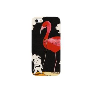 ペットのフラミンゴ Smartphone cases