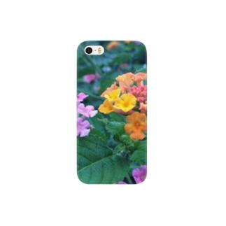 夏の朝の花 Smartphone cases