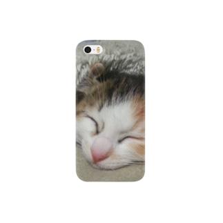 子猫の寝顔 Smartphone cases
