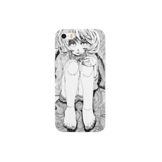 女の子02モノクロ ver. スマートフォンケース
