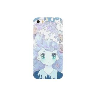 波の髪の毛の少女 Smartphone cases