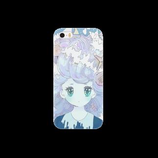 いちコの波の髪の毛の少女 Smartphone cases