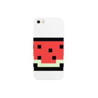 スイカアイコン Smartphone cases
