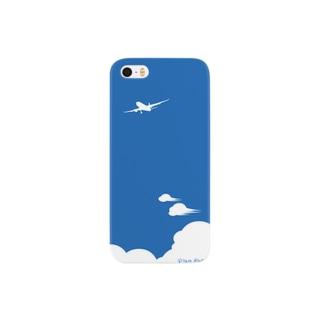 飛行機【青】 Smartphone cases