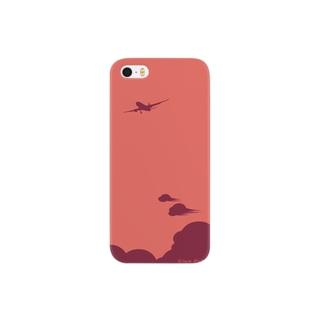 飛行機【赤】 Smartphone cases