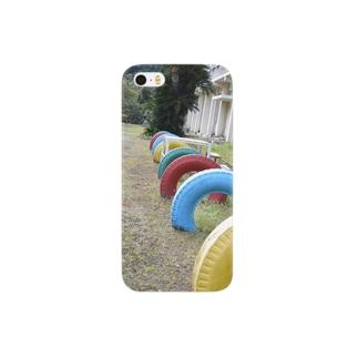 田舎の学校 Smartphone cases