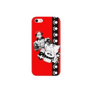 ねこガンマン (和男子) Smartphone cases