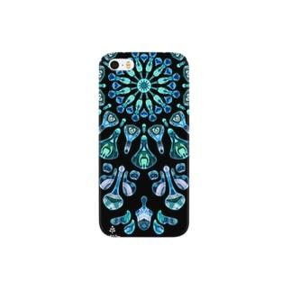 幻想万華鏡 青い雪 Smartphone cases