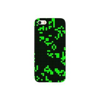 Game of Life(Black&Green)_02 Smartphone cases