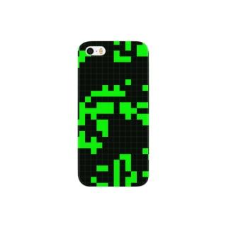 Game of Life(Black&Green)_03 スマートフォンケース