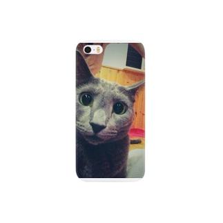 困った顔のねこ 猫 Smartphone cases