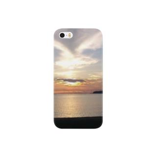 牡鹿の夕陽 Smartphone cases