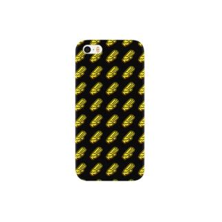 ThreePiece(黒)ヌリ Smartphone cases