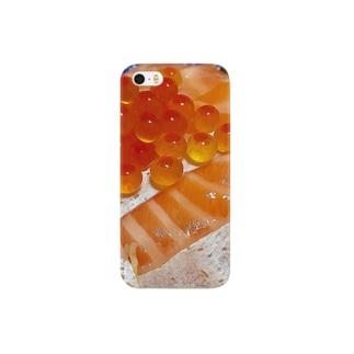 サーモンといくらちゃん Smartphone cases