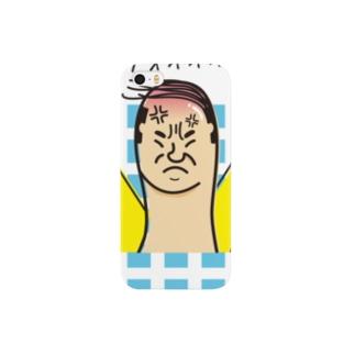 カミナリ【おやじ指】 Smartphone cases