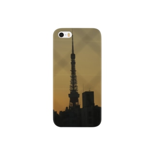 The silhouette of Tokyo Tower Smartphone cases