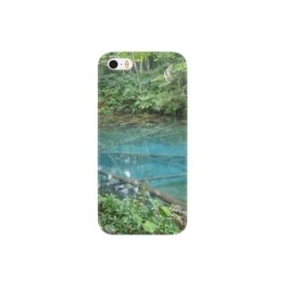 青い池 Smartphone cases