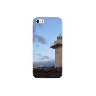 夜を背にした岬 Smartphone cases