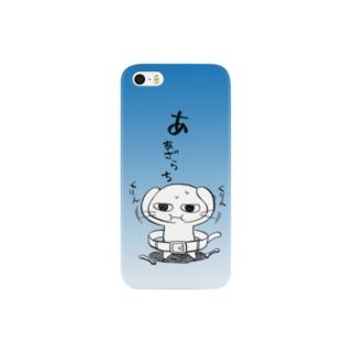 ねこガンマン (あざらち セルリアンブルー) Smartphone cases
