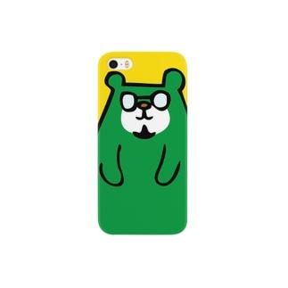 トミクマ 緑×黄 Smartphone cases
