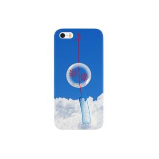 夏の空に風鈴 Smartphone cases