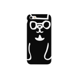 トミクマ ブラック×ホワイト Smartphone cases