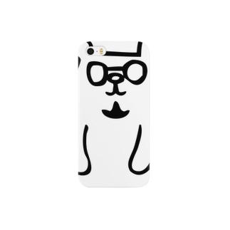 トミクマ ホワイト×ブラック Smartphone cases