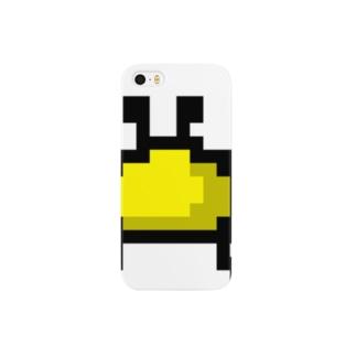 黄色カニアイコン Smartphone cases