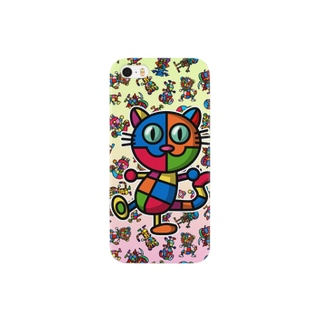 colorful cat スマートフォンケース