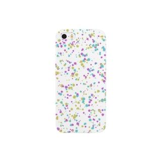 Random Paint01(White) Smartphone cases