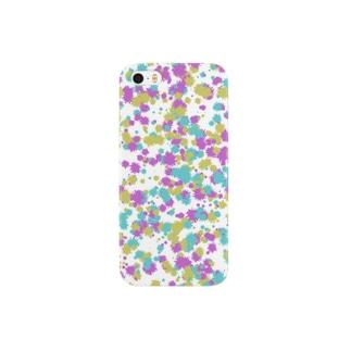 Random Paint02(White) Smartphone cases