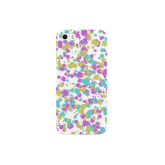 レオナのRandom Paint02(White) Smartphone cases